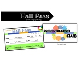 Hall Pass for Speech-Language Therapy