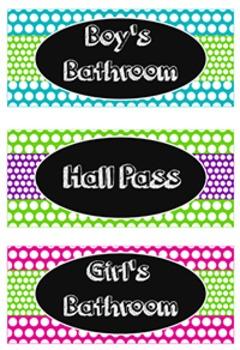 Hall Passes ~ 6 Pack {FREE}