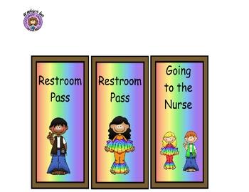 Hall Passes 60's Hippie Theme