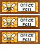 Hall Passes - Bee Theme - Bee Hall Passes