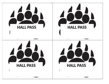 Hall Passes - Blue Bear Paw