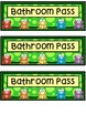 Hall Passes - Bright Frog Theme - Frog Hall Passes