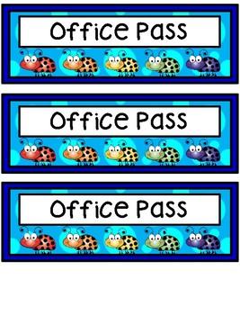 Hall Passes - Bug Theme - Bug Hall Passes - Insect Hall Passes