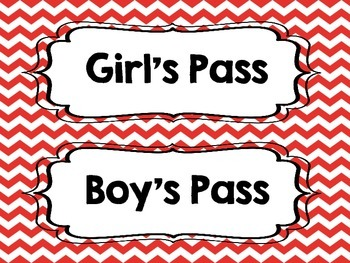 Hall Passes (Chevron)