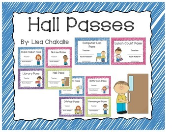 Hall Passes - Crayon Scribble