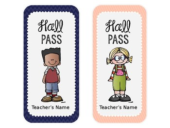 Hall Passes & Destination Log: Sunny Days Classroom Decor