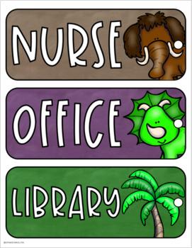Hall Passes Dinosaur Theme Editable (Boys, Girls, Office, Library, Nurse)