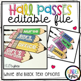 Hall Passes EDITABLE