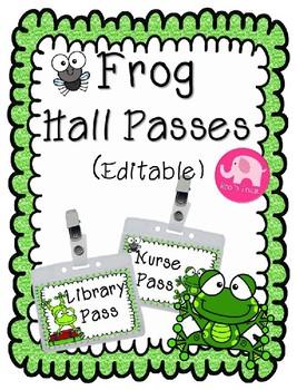 Hall Passes ~ Editable