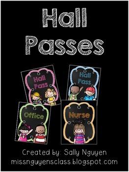 Hall Passes- Freebie