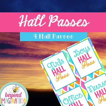 Hall Passes Freebie Back to School 2016-2017