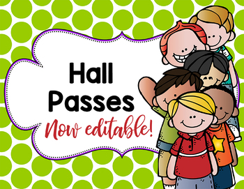 Hall Passes Freebie
