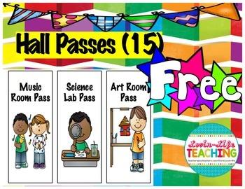 Hall Passes Freebie of the Week!