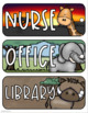 Hall Passes Jungle Safari Theme Editable (Boys, Girls, Office, Nurse, Library)