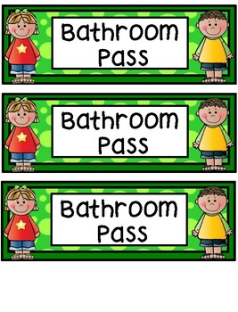 Hall Passes - Kids Theme - Kids Hall Passes