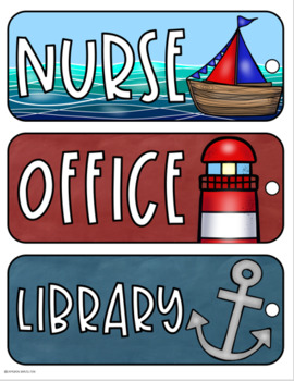 Hall Passes Nautical Sailing Sailor Theme Editable (Boys, Girls, Office, Nurse)