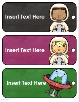 Hall Passes Outer Space Theme Editable (Boys, Girls, Office, Nurse, Library)