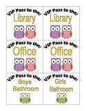 Hall Passes: Owls