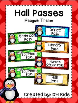 Hall Passes - Penguin Theme - Penguin Hall Passes