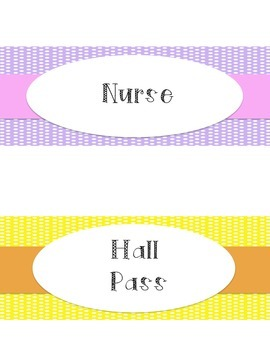 Hall Passes (Polka dot)