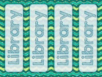 Hall Passes, Teal Glitter Chevron