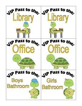 Hall Passes: Turtles