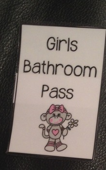 Hall Passes for Elementary School
