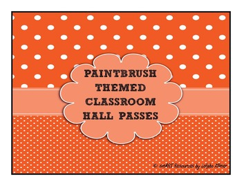 Hall Passes for the Art Classroom -- Paintbrushes
