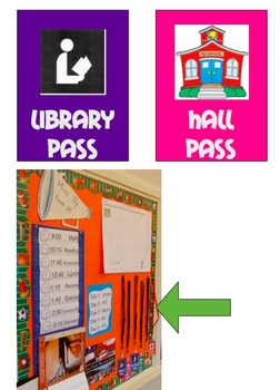 Hall Passes for the Elementary Classroom