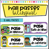 Hall Passes in Spanish and English - Pases para Estudiantes