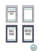 Hall Passes and Check-out Sheet- Editable and 8 Styles!