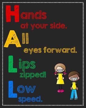 Hall Procedure Classroom Posters