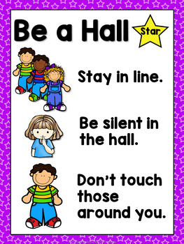 Classroom Management - Hall Stars EDITABLE