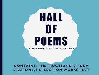 Holocaust Poetry: Hall of Poems:  Poetry Lit Device Annotation Stations  CCSS