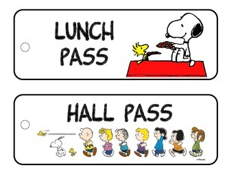 Hall pass Peanuts Theme