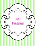 Hall pass template
