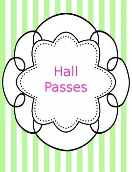Hall Pass Templates Teaching Resources Teachers Pay Teachers