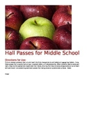 Hall passes - with a sense of humour