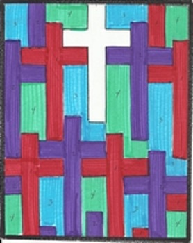 Hallelujah Color By Number Bundle. Crosses Religious Easter Pages