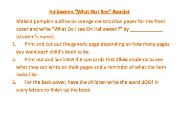 "Hallloween ""What Do You See"" Booklet Activity"