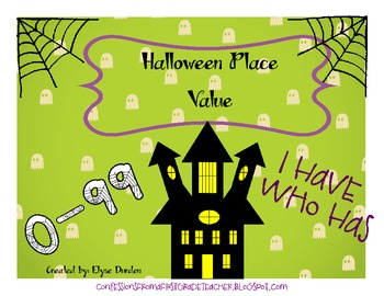 Halloween Place Value: I Have, Who Has