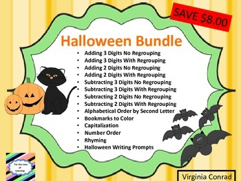 Halloween Bundle--- Activities Ready to Go!
