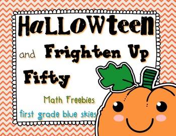 HallowTeen and Frighten Up Fifty Math Game Freebies