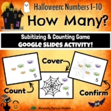 Halloween How Many? 1-10 Subitizing, Number Sense & Counti