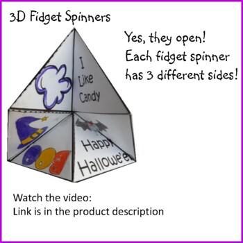 Hallowe'en Crafts - 3D Fidget Spinners
