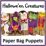 Hallowe'en Crafts - Creatures Paper Bag Puppets