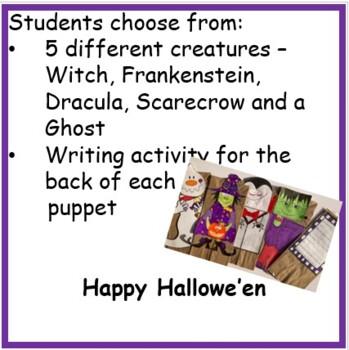 Hallowe'en Crafts - Creatures Paper Bag Puppets