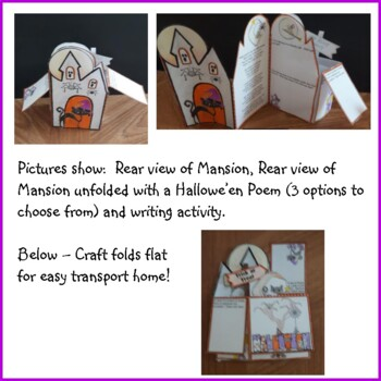 Hallowe'en POP-UP Mansion Craftivity