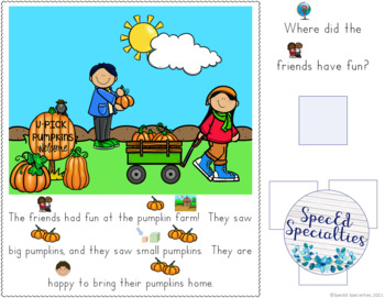 Hallowe'en Reading Comprehension adapted books (Level 3)