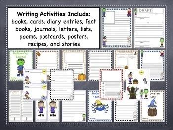 Writing Activities - Halloween